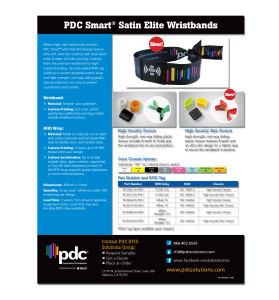 PDC Smart Satin Elite Wristbands Flyer