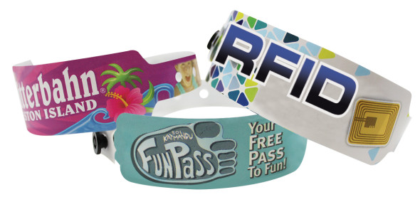 Custom Imprint PDC Smart Full Color SuperBand Wristbands