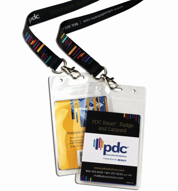 PDC Smart Badge with Pouch & Lanayard Landscape