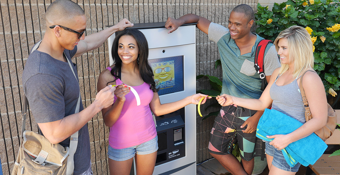 Pdc Smart 174 Wristband Kiosk Waterpark Rfid Solutions By Pdc