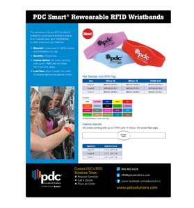 PDC Smart® Rewearable RFID Wristbands